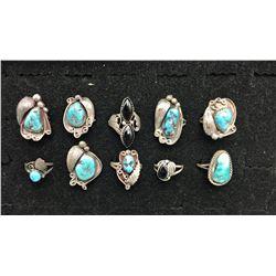 Group of 10 Vintage Rings