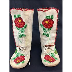 High Top Beaded Shoshone Moccasins