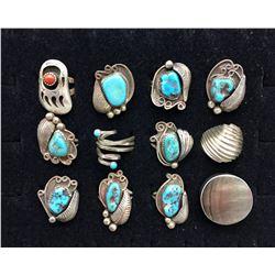 12 Sterling Silver Rings