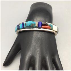 Cobblestone Inlay Bracelet by Lyndon Tsosie!