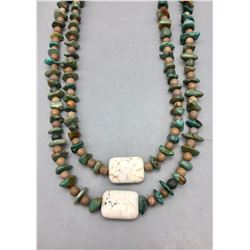 Turquoise Nugget, Jasper and Wild Horse Bead Necklace