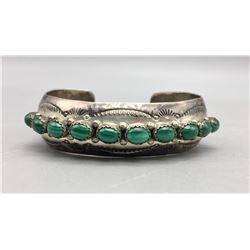 Sterling Silver and Malachite bracelet