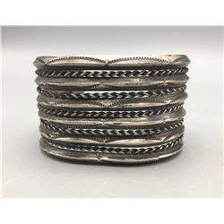 11 Row Twisted and Triangle Wire Bracelet
