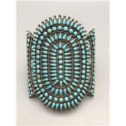 Fine Petit Point Turquoise Bracelet