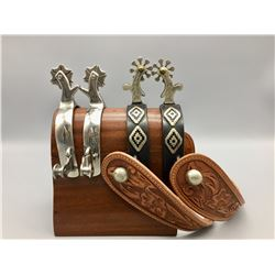 Spurs with Rug Pattern and Vogt Spurs