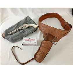 .357 Single Action Nickel Plated Pistol with Holster