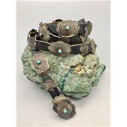 Small Size Vintage Navajo Concho Belt