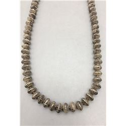 Vintage Handmade, Fluted Bead Necklace