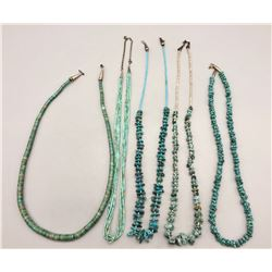Collection of Five Turquoise Necklaces