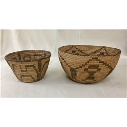 Group of Two Vintage Pima Baskets