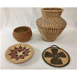 Four Miscellaneous Baskets
