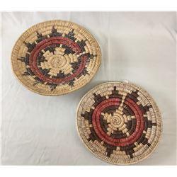 Two Vintage Navajo Wedding Baskets