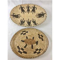 Two Figural Tohono O'Odham Baskets