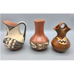 Wedding Vase and Jemez Pot and Zia Pitcher