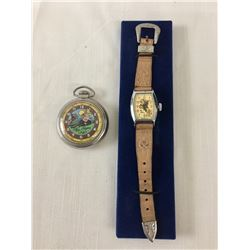 Vintage Roy Rogers Watch and Pocket Watch and Book