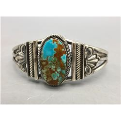 Leon Martinez Turquoise and Sterling Silver Bracelet