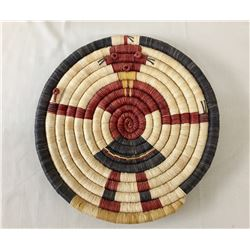 Hopi Coiled Basket with Mudhead Figure