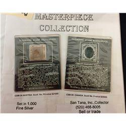 34 Cloisonne Stamp Masterpieces