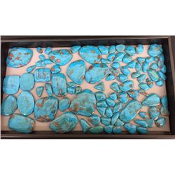 Tray of Turquoise Cabochons