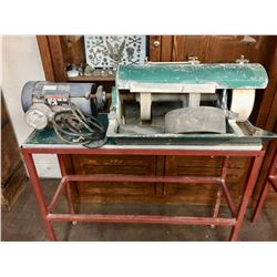 Commercial Size Lapidary Buffer with Stand