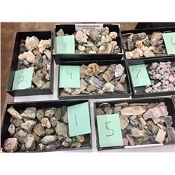 Choice Bidding on Box Lots of Minerals and Gems
