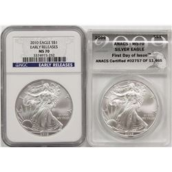 2009 AND 2010 AMERICAN SILVER EAGLES