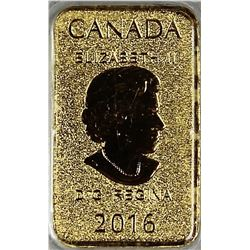 2016 CANADA 1/10 OZ GOLD BAR