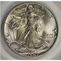1941 WALKING LIBERTY HALF DOLLAR PCGS MS 65