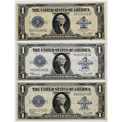 THREE 1923 $1.00 SILVER CERTIFCATES