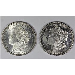 1878-S AND 1884 MORGAN SILVER DOLLARS