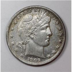 1909-O BARBER HALF DOLLAR