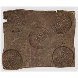 RARE! SWEDEN 1/2 DALER PLATE MONEY 1742