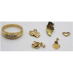 14K GOLD GROUP LOT: