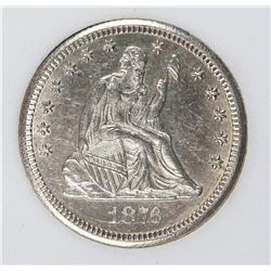 1876-CC SEATED QUARTER