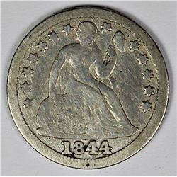 1844 SEATED DIME