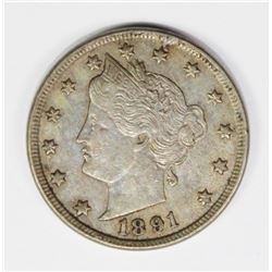 1891 LIBERTY NICKEL