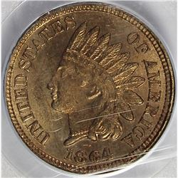 1864 COPPER NICKEL INDIAN CENT