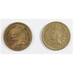 1862 AND 1859 INDIAN CENTS