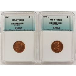 1945 AND 1945-D LINCOLN CENTS