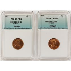 1942 AND 1944 LINCOLN CENTS