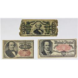 FR 1342, FR 1309, FR 1308 FRACTIONAL CURRENCY