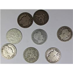 BARBER HALF DOLLAR LOT: