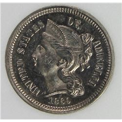1869 THREE CENT NICKEL