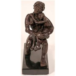 Bronze Sculpture of Mother and Child  (104923)