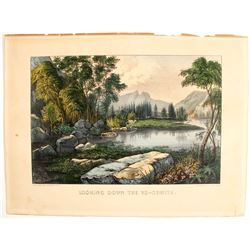 Yosemite Currier and Ives Print  (90309)