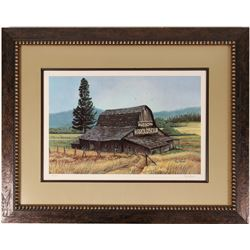 Harolds Club Barn by Roy Powers, Autographed, numbered print.  (114388)