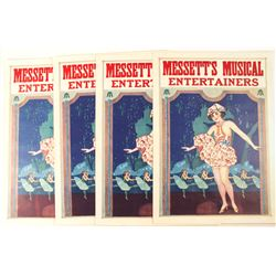Messett's Musical Entertainers Lithographs (4)  (78960)