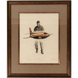 "Chuck Yeager and the Bell XS-1"" Print, Artist Signed  (114380)"
