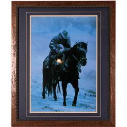 Cowboy in a Storm Print  (114383)