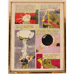 William Forrest Martin Original Illustration/Comic with Autograph:  Atomic Bomb, Hitler, WWII  (1127